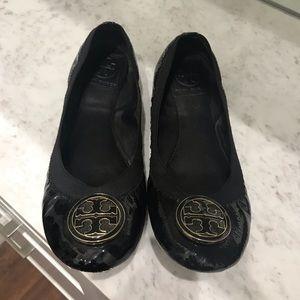 Tory Burch Patent leather Carolina baller flats